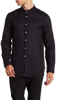 John Varvatos Collection Solid Linen Slim Fit Shirt