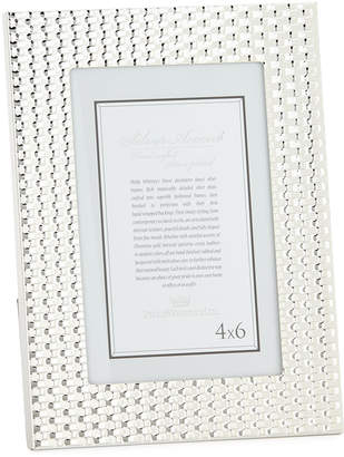 Phillip Whitney Silver-Plated Weave Picture Frame, 4 x 6