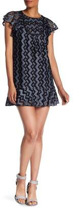 Anna Sui Zig Zag Leaf Lace Dress