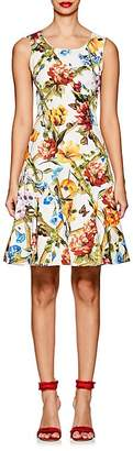 Dolce & Gabbana Women's Floral & Bug-Print Stretch-Cotton Dress
