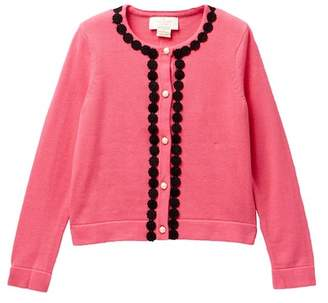 Kate Spade Lace Trim Cardigan (Toddler & Little Girls)