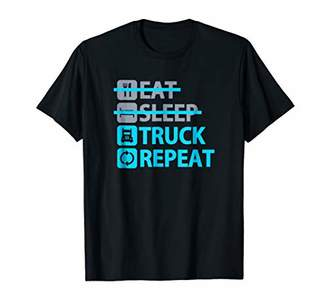 Eat Sleep Truck Repeat - Funny TShirt for Truck Drivers