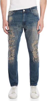 Patrizia Pepe Distressed Slim Tapered Jeans