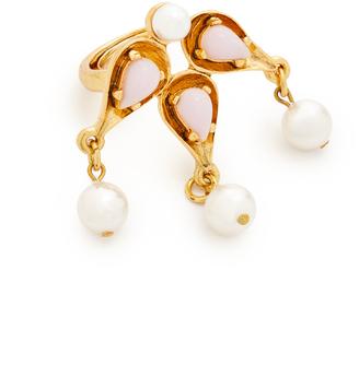 Oscar de la Renta Cabochon Imitation Pearl Ring $185 thestylecure.com