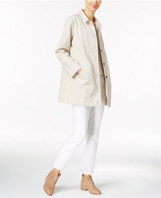 Eileen Fisher Organic Cotton Point-Collar Jacket $238 thestylecure.com