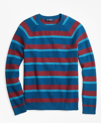 Brooks Brothers Cotton Stripe Sweater