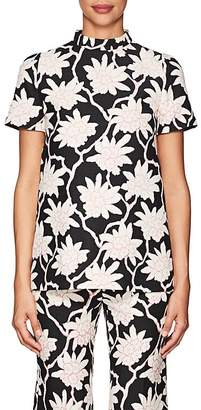 Valentino Women's Rhododendron Wool-Silk Crepe Top