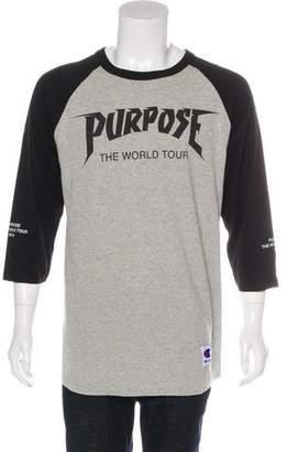 Champion Purpose Tour Graphic Ringer T-Shirt