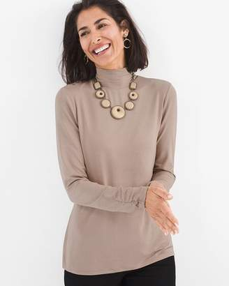 Chico's Chicos Knit Mock-Neck Top