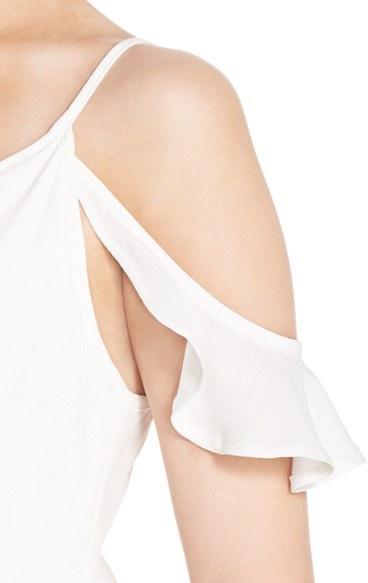 Women's Fraiche By J Cold Shoulder Wrap Front Maxi Dress 3