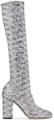 Dolce & Gabbana stretch sequins 90 boots