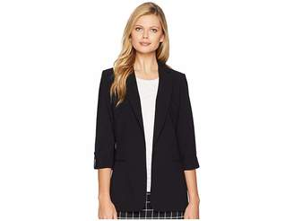 Calvin Klein Woven Button Front Jacket Women's Coat
