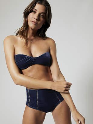 Jonathan Simkhai Velvet Bandeau Bikini Top