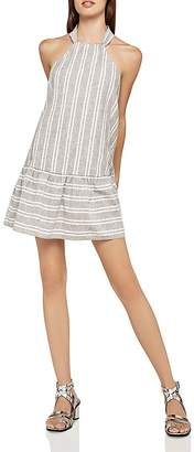 BCBGeneration Flounce-Hem Striped Tent Dress