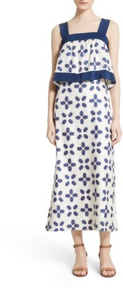 Women's Tory Burch Avila Beetle Print Popover Bodice Dress $495 thestylecure.com