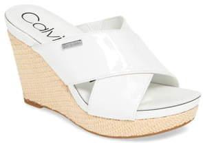 Calvin Klein Jacolyn Wedge Slide Sandal
