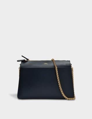 A.P.C. Ella Bag in Dark Navy Shiny Calfskin