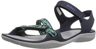 Crocs (クロックス) - [クロックス] スウィフトウォーター ウェビング サンダル ウィメン 204804 Navy US W5(21 cm)