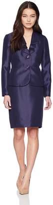 Le Suit Lesuit LeSuit Women's Petite Shiny 2 Bttn Skirt Suit