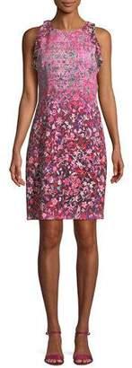 Elie Tahari Carelle Ombré-Floral Shift Dress