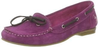 U.S. Polo Assn. US Polo Association Women's Brooklin1 Suede Loafer Flats Pink 3