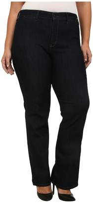 Isabella Collection NYDJ Plus Size Plus Size Trouser in Dark Enzyme Women's Jeans