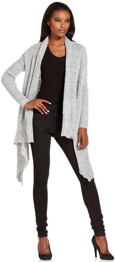 Rachel Roy Sweater, Long-Sleeve Draped Cardigan