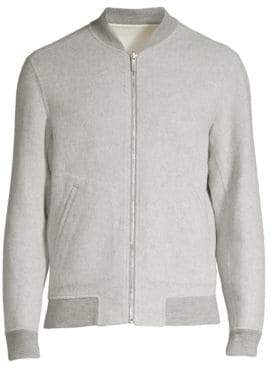 Theory Men's Jorge Regular-Fit Cashmere Bomber Jacket - Eclipse - Size Small