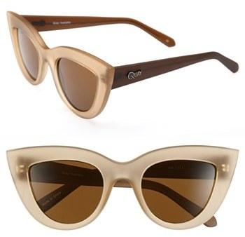 Green & Black Quay 'Kitti' Sunglasses