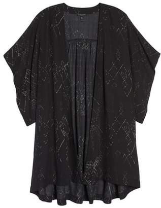 Eileen Fisher Print Silk Blend Kimono Jacket