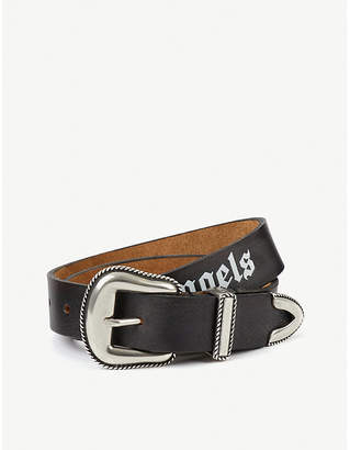 Palm Angels Logo leather belt