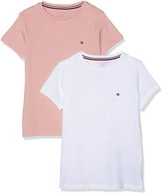 Tommy Hilfiger Girl's T-Shirt,(Manufacturer Size: 140/152 cm)