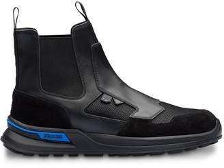 Prada high-top boot sneakers