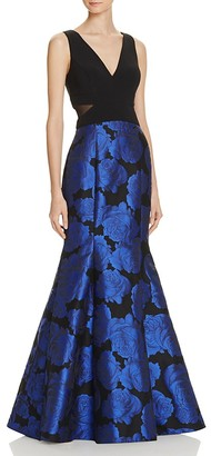 Avery G Jacquard-Skirt Gown $268 thestylecure.com