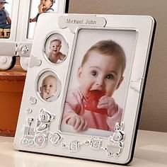 """Lenox Bundle of Joy Baby Picture Frame 7.5"""" Hold 4 Photos"""