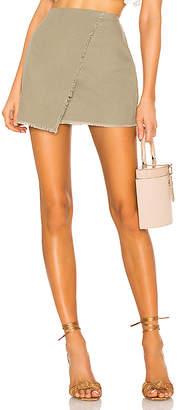 superdown Callie Frayed Wrap Skirt