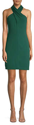 Eliza J Cross Halterneck Sheath Dress