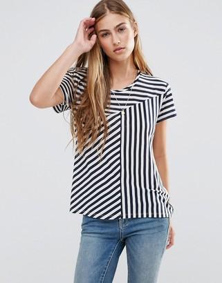 Maison Scotch Mixed Striped T-Shirt $54 thestylecure.com