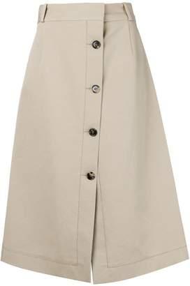 Bottega Veneta A-line midi skirt