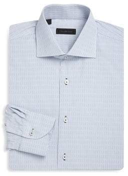 Saks Fifth Avenue COLLECTION Classic-Fit Graph Cotton Dress Shirt