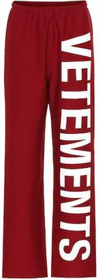 Vetements Printed cotton-blend trackpants
