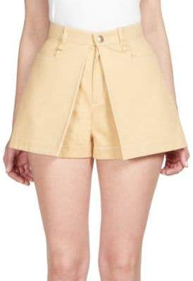 Chloé Cotton Pleat-Front Shorts
