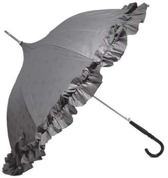 コスメアンドグッズ [MOLLY MARAIS]晴雨兼用!UVカット加工長傘(Wレイヤード ドット グレー)