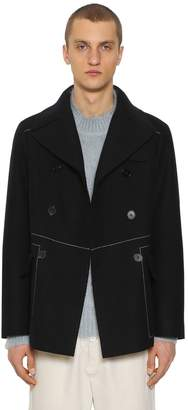 Jil Sander Rockford Double Breasted Wool Pea Coat