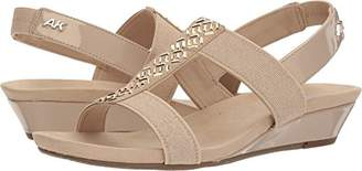 Anne Klein AK Sport Women's IDOLIZE Stretch Sandal Wedge