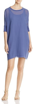 Eileen Fisher Mixed Media Cocoon Dress $298 thestylecure.com