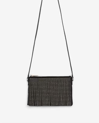 Express Studded Fringe Crossbody Bag