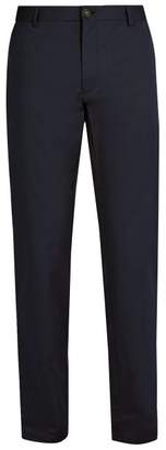 Burberry Slim Leg Cotton Chino Trousers - Mens - Navy