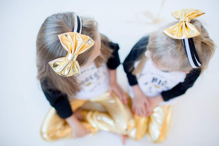 Etsy Big Gold Striped Baby Bow Headband, Liquid Gold Headband, Lame Gold Baby Headband,Mommy and Me Gold