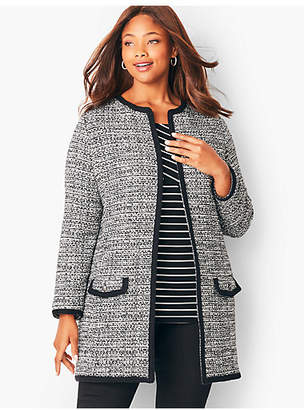 Talbots Textured Tweed Topper